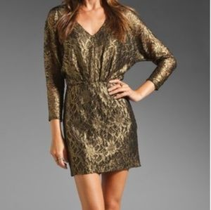 Trina Turk Black w/ Gold shimmer lace detailing